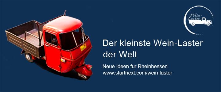 Der kleinste Wein-Laster der Welt  Neue Ideen für Rheinhessen