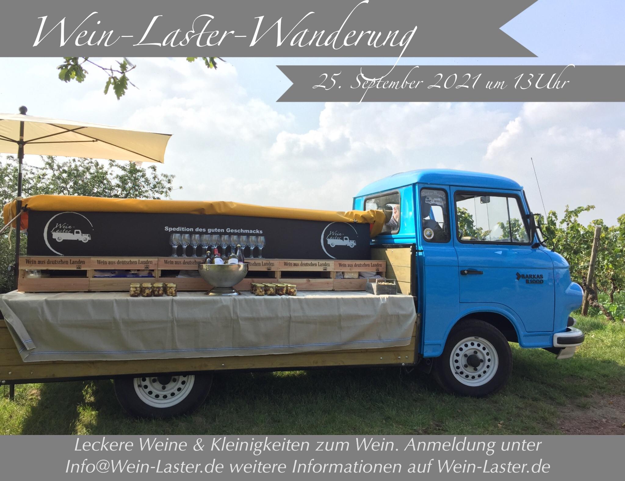 Wein-Laster-Wanderung am 25. September